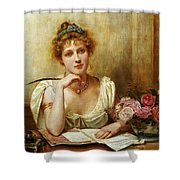 The Letter Shower Curtain by George Goodwin Kilbourne