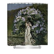 The Lilac Bush Shower Curtain by Olaf Isaachsen