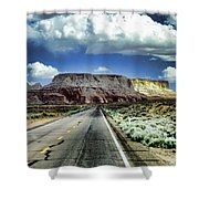 The Long And Lonely Road Shower Curtain by Ellen Heaverlo