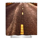 The Long Road Home . Painterly Style . Long Size Shower Curtain by Wingsdomain Art and Photography