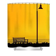 The Long Wait Shower Curtain by Karen Wiles