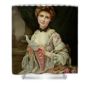The Love Letter Shower Curtain by Francois Martin-Kayel