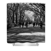 The Mall At Central Park Shower Curtain by Rob Hans