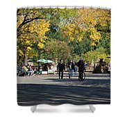 The Mall In Central Park Shower Curtain by Rob Hans
