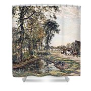 The Manor Farm Shower Curtain by Mark Fisher