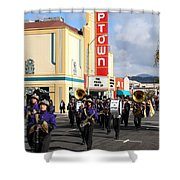 The Marching Band at The Uptown Theater in Napa California . 7D8925 Shower Curtain by Wingsdomain Art and Photography