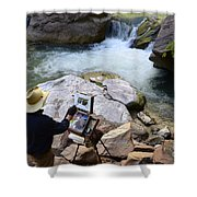 The Narrows Quality Time Shower Curtain by Bob Christopher