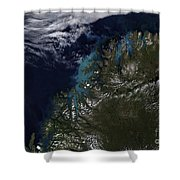 The Norwegian Sea Shower Curtain by Stocktrek Images