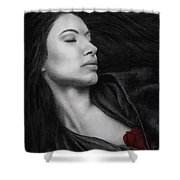 The Offering Shower Curtain by Pat Erickson