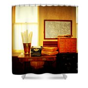 The Office Old Tuscon Arizona Shower Curtain by Susanne Van Hulst
