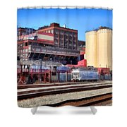 The Old C and H Pure Cane Sugar Plant in Crockett California . 5D16770 Shower Curtain by Wingsdomain Art and Photography