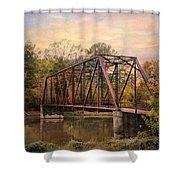 The Old Iron Bridge Shower Curtain by Jai Johnson