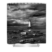 The Old Lighthouse  Shower Curtain by Adrian Evans