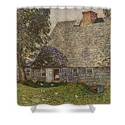 The Old Mulford House Shower Curtain by Childe Hassam