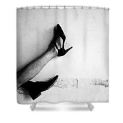 The Other Shoe 3 Shower Curtain by Sumit Mehndiratta