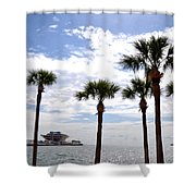 The Pier - St. Petersburg Shower Curtain by Bill Cannon