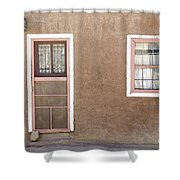 The Pinkertons Live Here Shower Curtain by Glennis Siverson