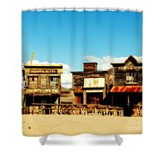 The Pioneer Hotel Old Tuscon Arizona Shower Curtain by Susanne Van Hulst