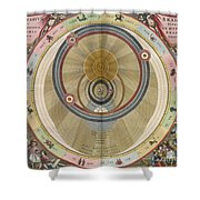 The Planisphere Of Brahe Harmonia Shower Curtain by Science Source