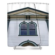The Potter School House . Bodega Bay . Town of Bodega . California . 7D12482 Shower Curtain by Wingsdomain Art and Photography