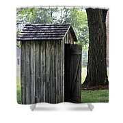 The Privy Shower Curtain by Teresa Mucha