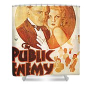 The Public Enemy Shower Curtain by Nomad Art And  Design