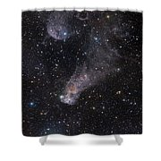 The Question Mark Nebula In Orion Shower Curtain by John Davis