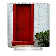 The Red Door Shower Curtain by Karon Melillo DeVega