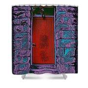The Red Door Shower Curtain by Tim Allen