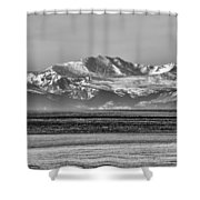 The Rockies Shower Curtain by Heather Applegate