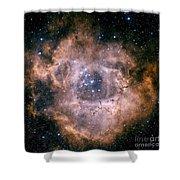 The Rosette Nebula Shower Curtain by Charles Shahar
