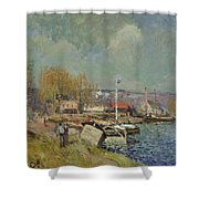 The Seine At Port-marly Shower Curtain by Alfred Sisley