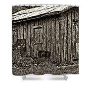The Shed sepia Shower Curtain by Steve Harrington