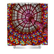 The Stained Glass Ceiling Shower Curtain by Judi Bagwell