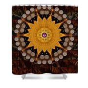 The sun will rise with light and love Shower Curtain by Pepita Selles