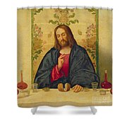 The Supper at Emmaus Shower Curtain by Vincenzo di Biaio Catena