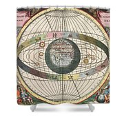The Universe Of Brahe Harmonia Shower Curtain by Science Source