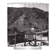 The Upper Village of Calico Ghost Town Shower Curtain by Susanne Van Hulst
