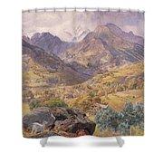 The Val D'aosta Shower Curtain by John Brett