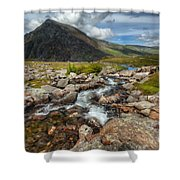 The Valley Shower Curtain by Adrian Evans