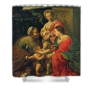 The Virgin And Child With Saints Shower Curtain by Simon Vouet