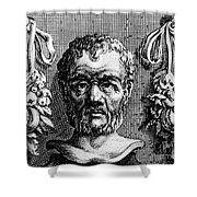 Theophrastus, Ancient Greek Polymath Shower Curtain by Photo Researchers