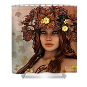 They Call Her Autumn Shower Curtain by Jutta Maria Pusl