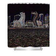 This City Is Rockin' Shower Curtain by Carol Groenen