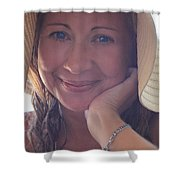 This Smile Was For You Shower Curtain by Laurie Search