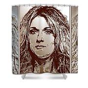 Three Interpretations Of Celine Dion Shower Curtain by J McCombie