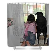 Through The Looking Glass Shower Curtain by Paul Ward