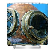 Thru The Peep Hole Shower Curtain by Rene Triay Photography