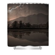 thunder storm Shower Curtain by Joana Kruse