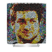 Tim Tebow Mms Mosaic Shower Curtain by Paul Van Scott